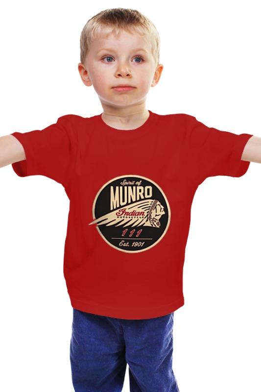 Детская футболка классическая унисекс Printio The spirit of munro. indian marketing of indian tea