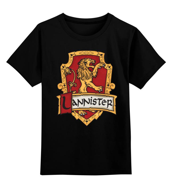 Детская футболка классическая унисекс Printio Ланнистеры футболка классическая printio ланнистеры
