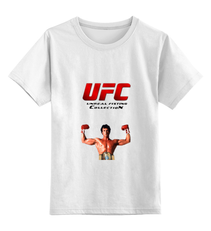 Детская футболка классическая унисекс Printio Ufc смешанные единоборства рокки