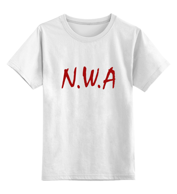 Детская футболка классическая унисекс Printio Группа n.w.a