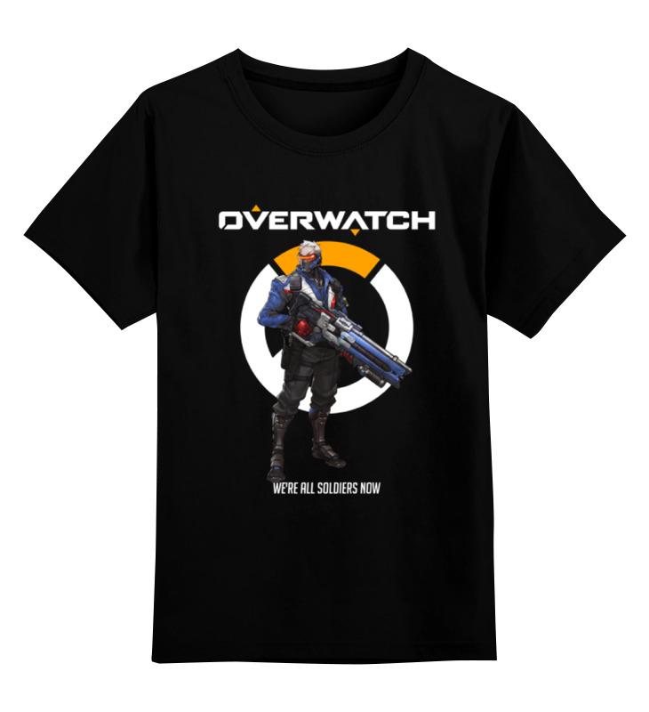 Детская футболка классическая унисекс Printio Overwatch. солдат 76 детская футболка классическая унисекс printio неизвестный солдат