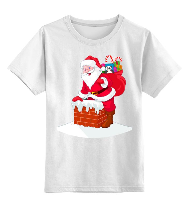 Детская футболка классическая унисекс Printio Дед мороз с подарками майка классическая printio дед мороз с подарками