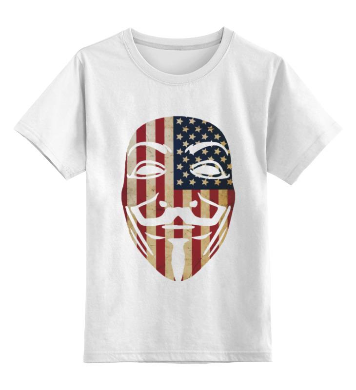 Детская футболка классическая унисекс Printio Usa anonymous