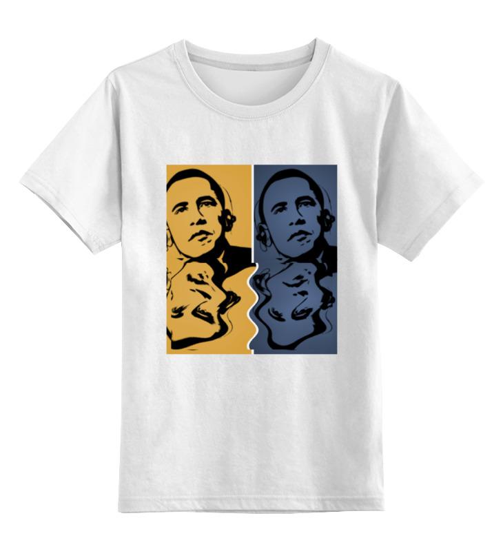Детская футболка классическая унисекс Printio Обама