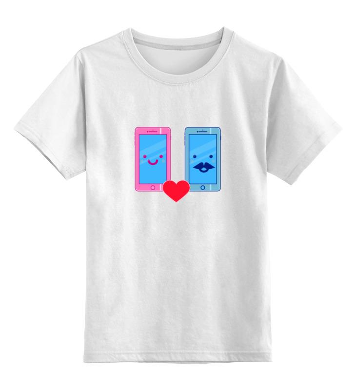Детская футболка классическая унисекс Printio Телефоны влюблены