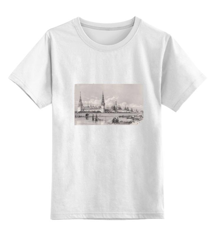 Детская футболка классическая унисекс Printio Гравюра кремль выставной в кремль 2222 ярославское шоссе