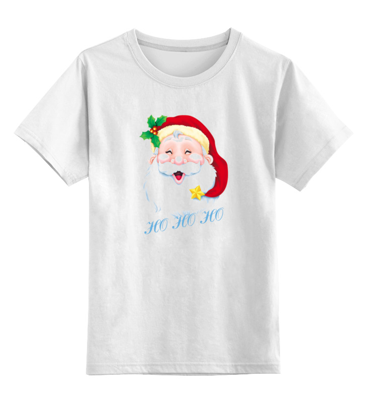 Детская футболка классическая унисекс Printio Веселый санта веселого рождества мама