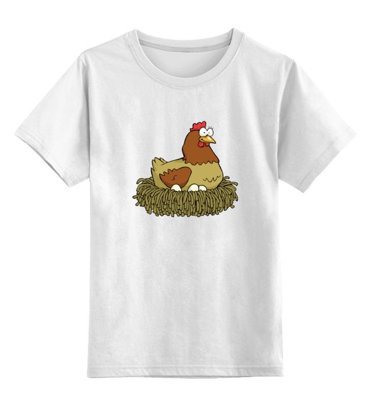 Детская футболка классическая унисекс Printio Курочка