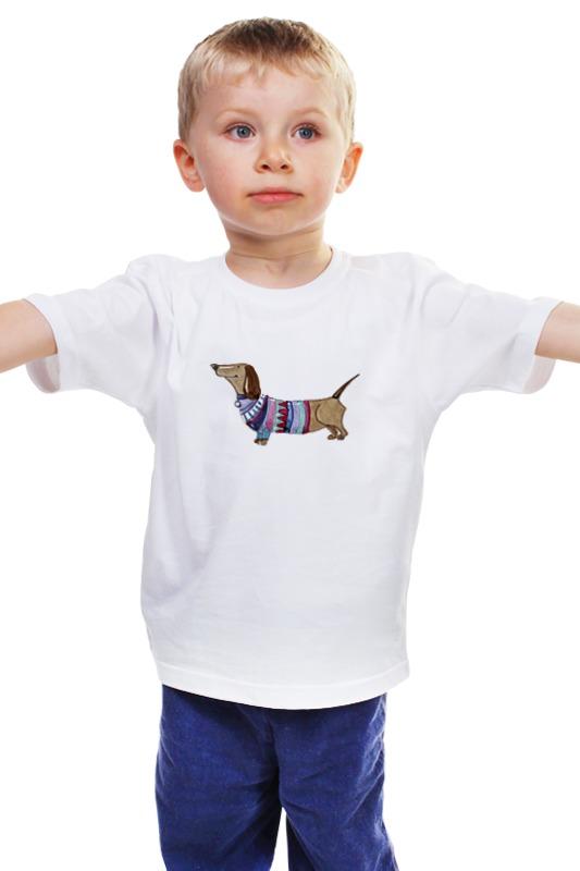 Детская футболка классическая унисекс Printio Акварельная такса подставка для колец такса