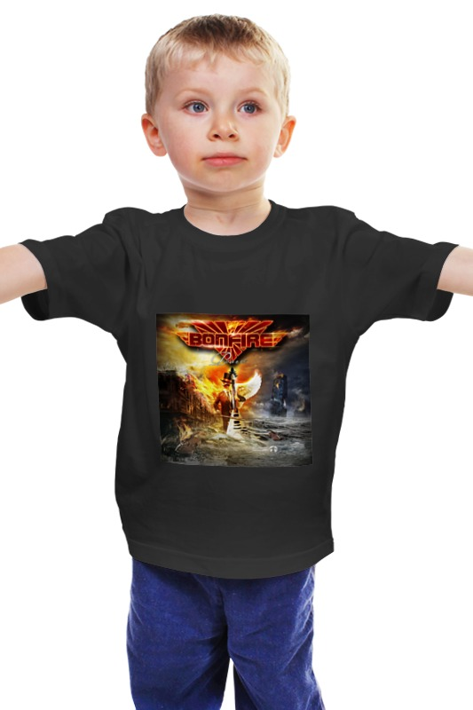 Детская футболка классическая унисекс Printio Bonfire
