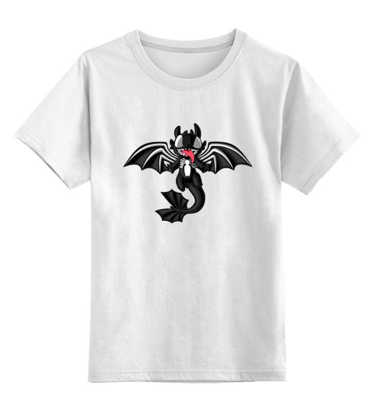 Детская футболка классическая унисекс Printio Ночная фурия (веном) цена
