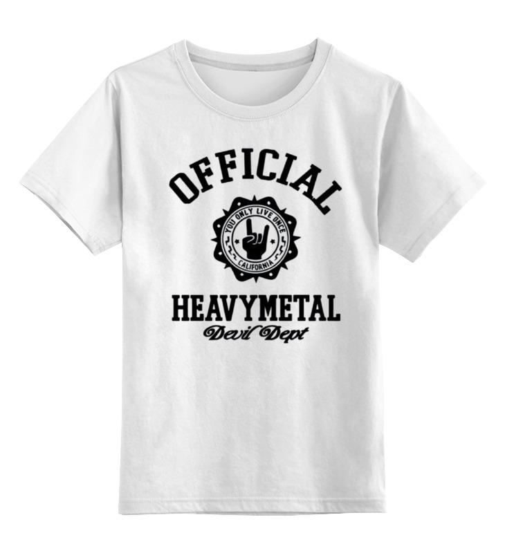 Детская футболка классическая унисекс Printio Heavy metal art sweet plus size scoop neck flounce sleeves chiffon blouse for women