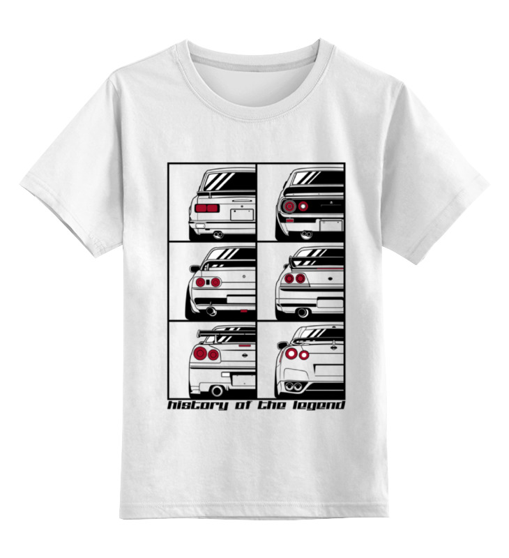 Детская футболка классическая унисекс Printio Skyline history детская футболка классическая унисекс printio nissan skyline r34