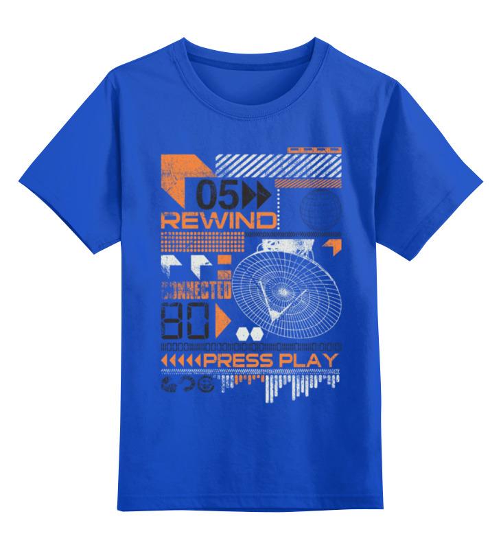 Детская футболка классическая унисекс Printio Rewind music майка классическая printio rewind music