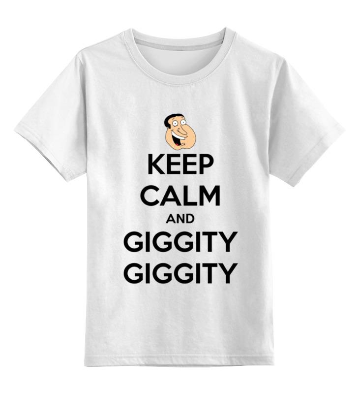 Детская футболка классическая унисекс Printio Keep calm and giggity цены