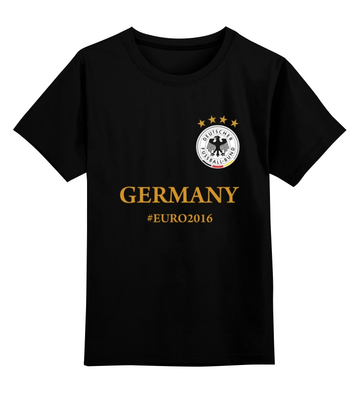 Детская футболка классическая унисекс Printio Сборная германии по футболу евро 2016 футболка классическая printio с пробегом по германии