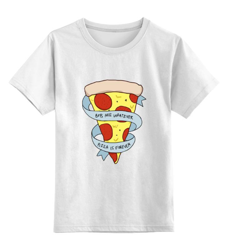 Детская футболка классическая унисекс Printio Пицца навсегда цена