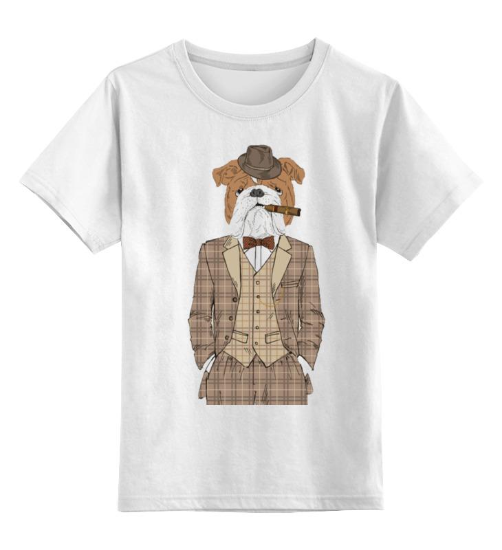 Детская футболка классическая унисекс Printio Уважаемый пес цена и фото