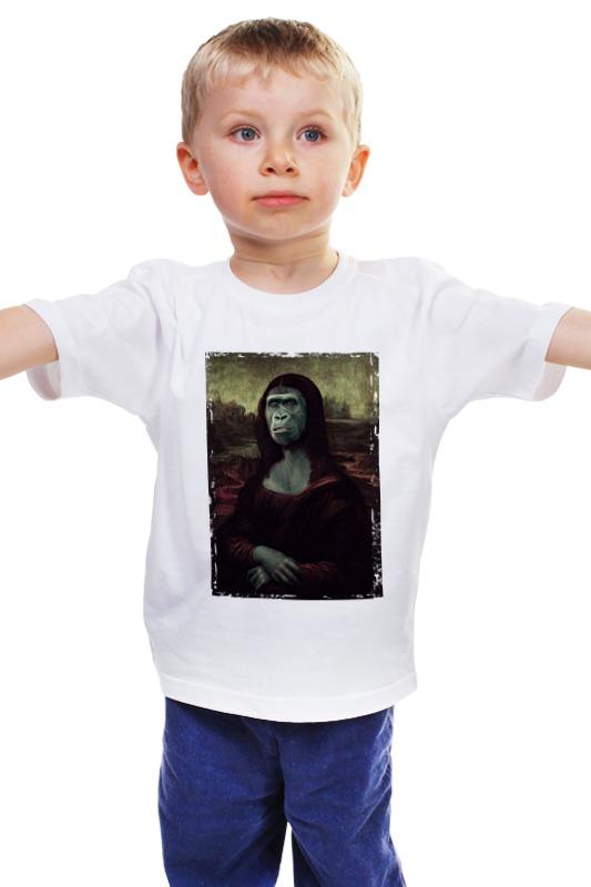 Детская футболка классическая унисекс Printio Мона лиза арт мона лиза комплект буфл 1 5 спальный мона лиза