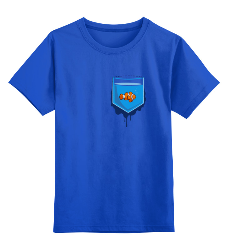 Детская футболка классическая унисекс Printio Рыбка в кормане стоимость