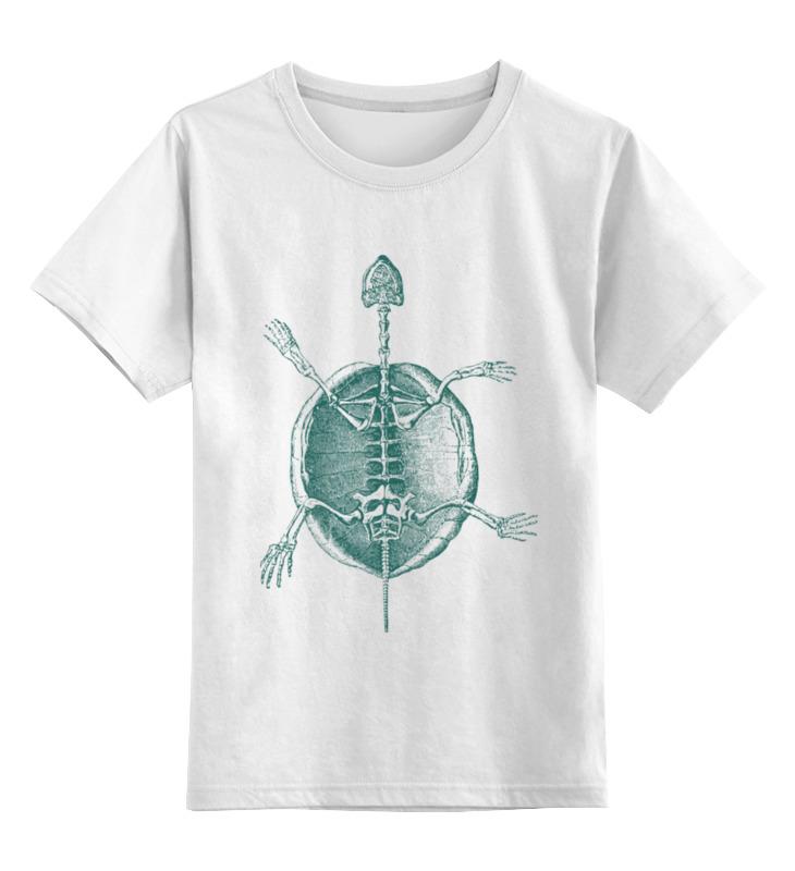 Детская футболка классическая унисекс Printio Скелет черепахи детская футболка классическая унисекс printio скелет пули