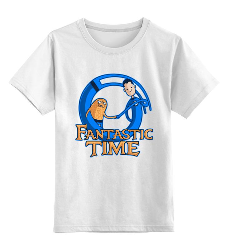Детская футболка классическая унисекс Printio Время приключений (фантастическая четвёрка) лонгслив printio фантастическая четвёрка fantastic four