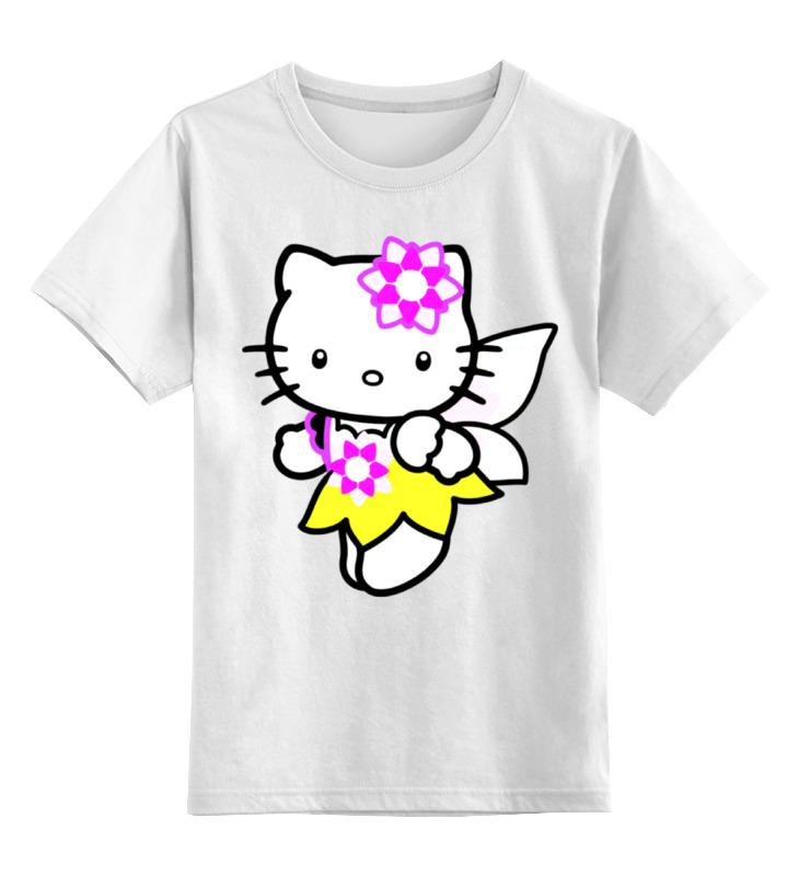 Детская футболка классическая унисекс Printio Кот кошка. hello kitty.любимый герой мульт. цены онлайн