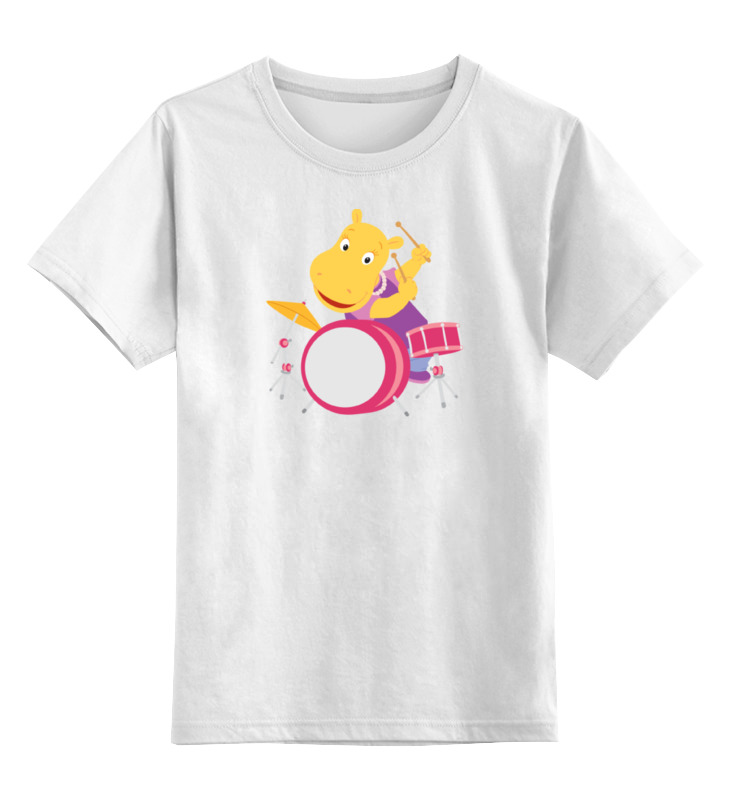 Детская футболка классическая унисекс Printio Бегемотик the hippopotamus