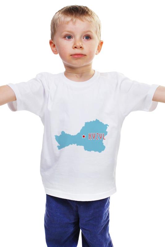 Детская футболка классическая унисекс Printio Республика тыва. кызыл
