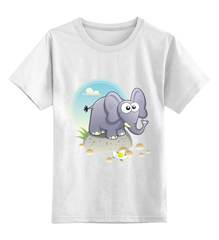 Детская футболка классическая унисекс Printio Одинокий слоник цена и фото