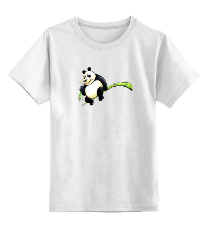 все цены на Детская футболка классическая унисекс Printio Панда на ветке онлайн