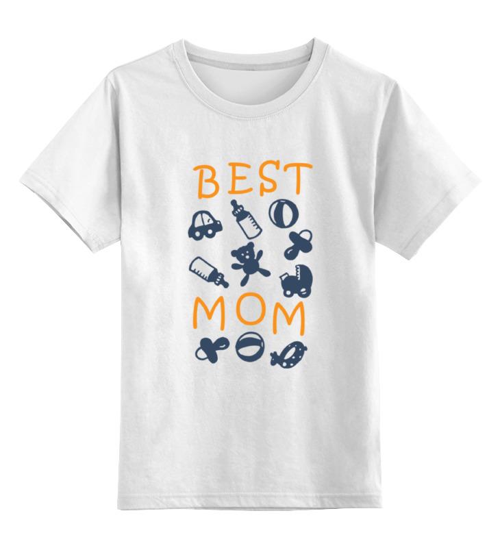 Детская футболка классическая унисекс Printio Best mom футболка для беременных printio stay best mom in the world