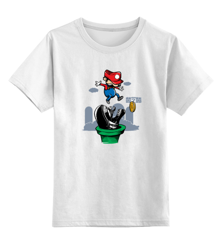 Детская футболка классическая унисекс Printio Марио чужой детская футболка классическая унисекс printio кинг бу марио