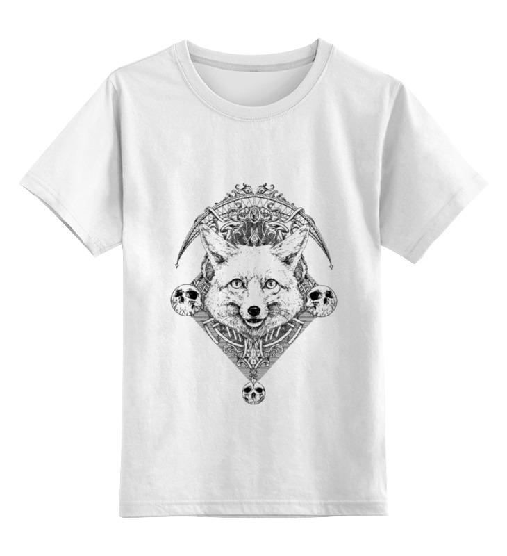 где купить Детская футболка классическая унисекс Printio Эмблема лис по лучшей цене