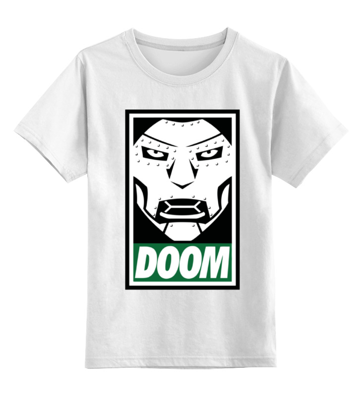 Детская футболка классическая унисекс Printio Доктор дум (doctor doom) boys clothing set despicable me cotton minion clothing sets unisex sport suit 3pcs coat t shirt pants baby boys girls clothes