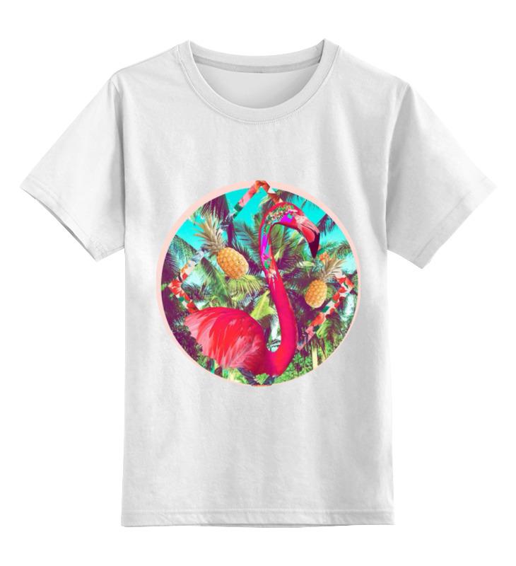 Детская футболка классическая унисекс Printio Розовый фламинго детская футболка классическая унисекс printio мотобайк