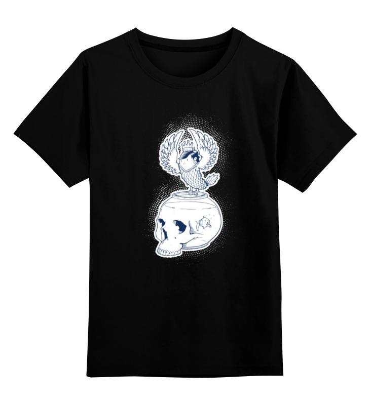 Детская футболка классическая унисекс Printio Fish scull / череп аквариум детская футболка классическая унисекс printio owl scull сова и череп