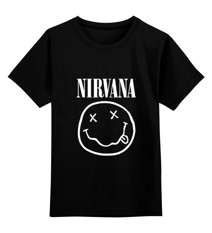 Детская футболка классическая унисекс Printio Nirvana (нирвана) цены