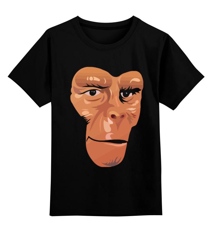 Детская футболка классическая унисекс Printio Обезьяна (планета обезьян) футболка с полной запечаткой для девочек printio планета обезьян planet of the apes