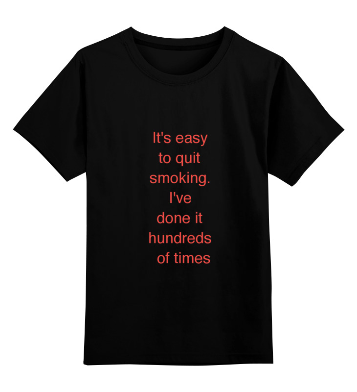 Детская футболка классическая унисекс Printio Брось сигарету