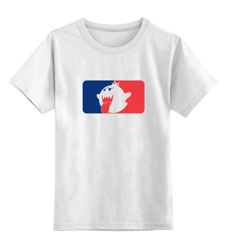 Детская футболка классическая унисекс Printio Кинг бу (марио)