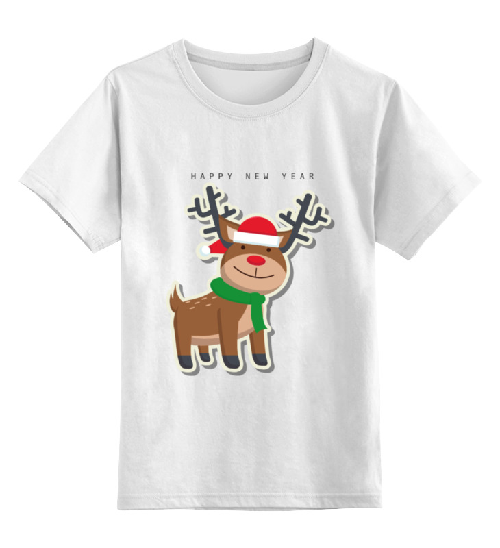 Детская футболка классическая унисекс Printio Happy new year детская футболка классическая унисекс printio happy new year bag