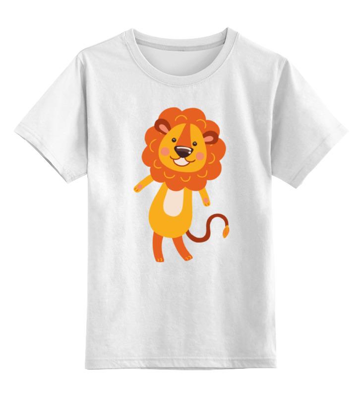 Детская футболка классическая унисекс Printio Весёлый львёнок цена и фото