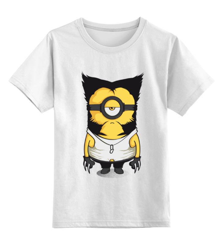 Детская футболка классическая унисекс Printio Миньон росомаха guess солнечные очки