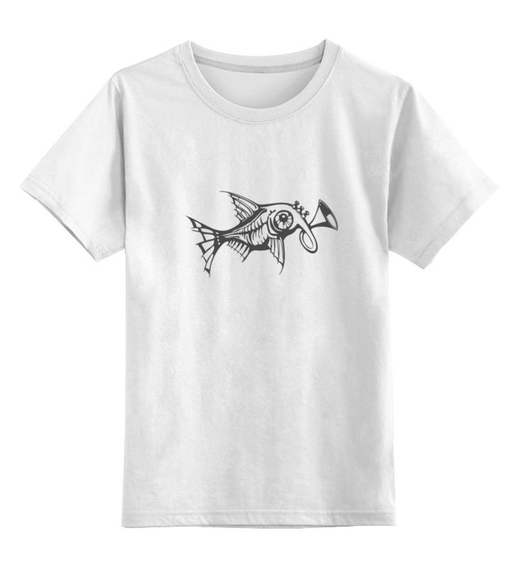 Детская футболка классическая унисекс Printio Чудо-рыба рыба собака в киеве