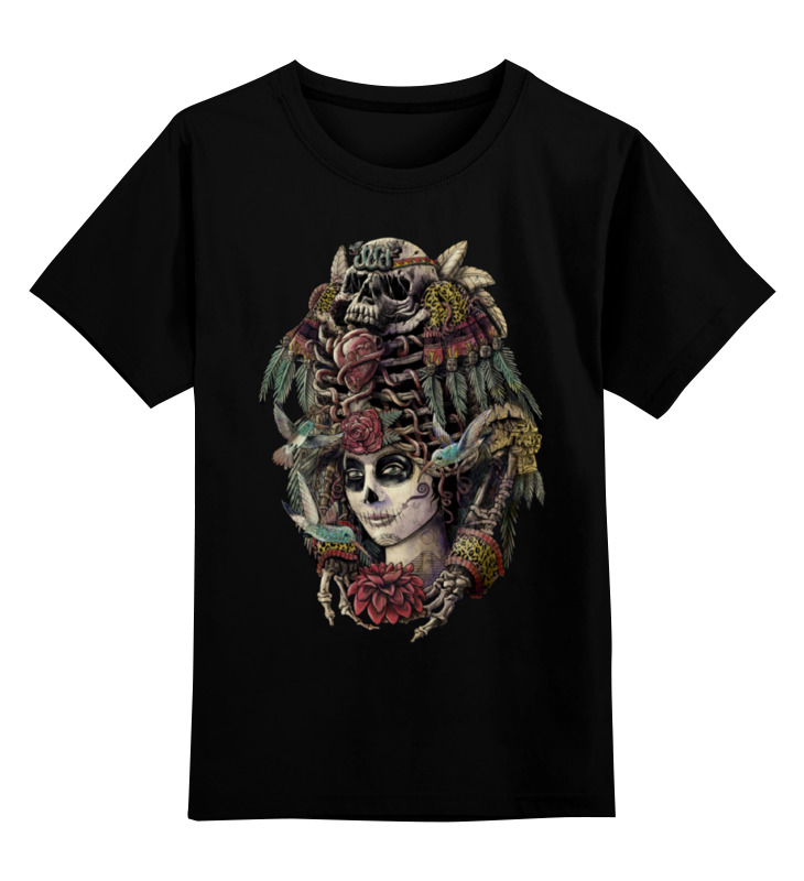 Детская футболка классическая унисекс Printio День мёртвых детская футболка классическая унисекс printio день программиста