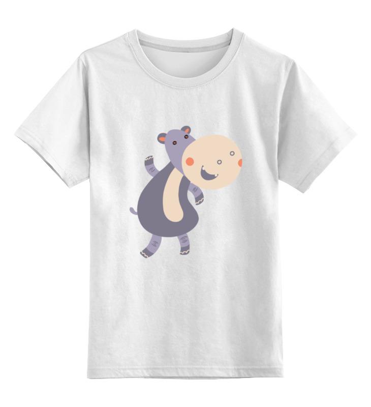 Детская футболка классическая унисекс Printio Весёлый  бегемот детская футболка классическая унисекс printio бегемот