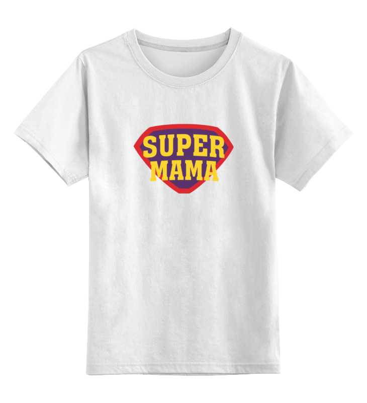 Детская футболка классическая унисекс Printio Супер мама диляра тасбулатова мама колян ислово набукву б