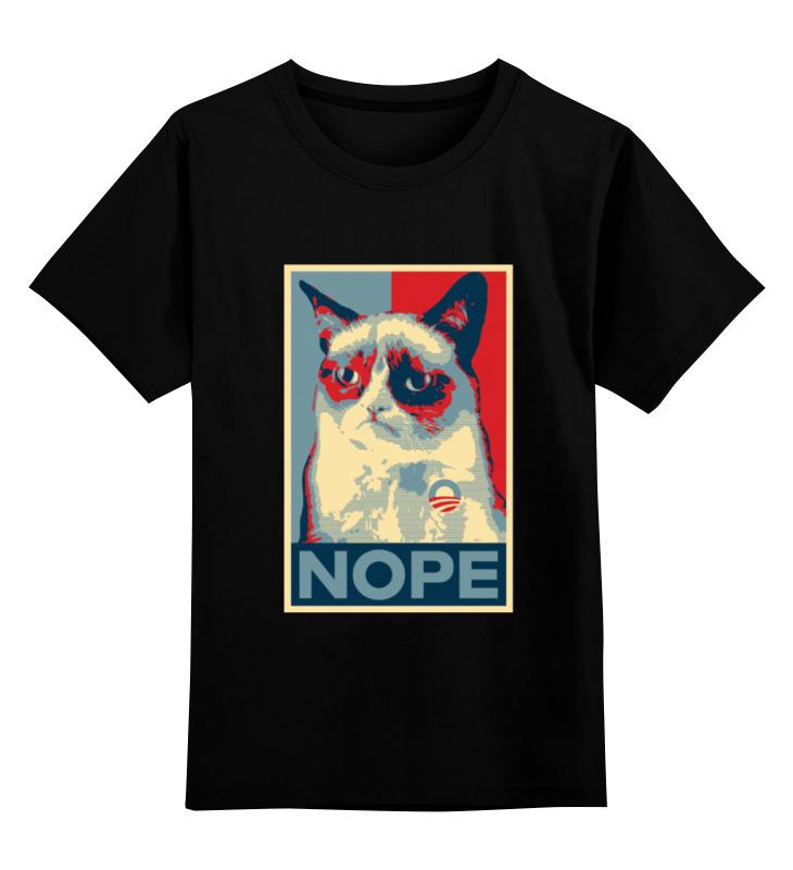 Детская футболка классическая унисекс Printio Grumpy cat