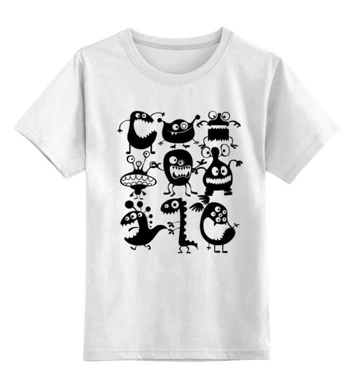 Детская футболка классическая унисекс Printio Монстрики футболка детская bodo цвет белый 4 86u размер 86 92
